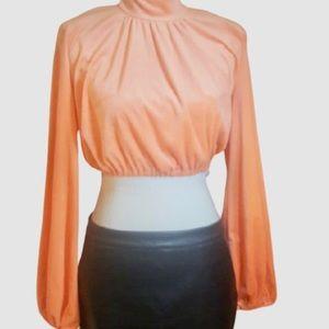 CBR Peachy Orange Fleece Crop Top M